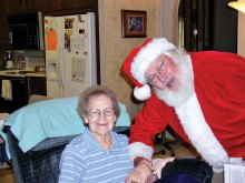 Santa visits a Neighbors Who Care client!