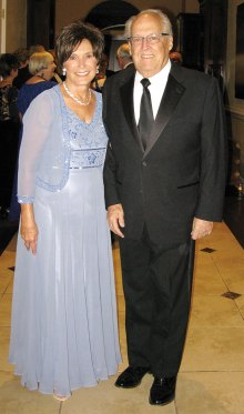 Lord and Lady Nelson are presented at the Downton Abbey Cotillion Dinner-Dance.