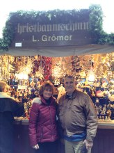 Jim Kane and Kathy Forester at Christmas Markets in Germany