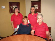 Pictured left to right - seated Jeanine Krause and Susan Meer; standing Linda Liberti and Marcia Gaudioso