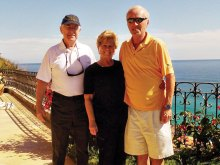 Ray Rajamaki with Paula and George Jauch on January 1 in Cabo San Lucas