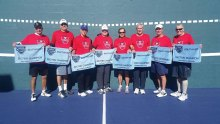 USTA 7.0 Sectional winners are Hal Davis, Jim Utter, Gary Porter, Ken Stanley (captain), Zev Yardeni, Phil Messer, Jerry Rex and Randy McManus