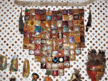 Our gourd quilt is a collaborative effort of our members and was placed in The Spirit of the Desert Gourd Patch at the February Running of the Gourds festival in the Pinal County Fairgrounds sponsored by Wuertz Gourd Farm.