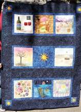 "Art Group's ""Happy Places"" art quilt"