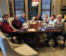 The Roadrunner Bridge Tournament planning committee pictured left to right: Eileen Utter, Eileen Friend, Jim Horton, Chairperson Kitty Larson, Bonnie Butler, Lindsay Cantoni and Sherri Holliday.