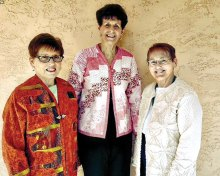 Pictured (left to right) are Dianne Mannheimer, Paula Gazzola and Lenora Pasch