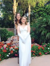 Debutante Kristen Carrieres (front) with sister Katelyn Carrieres