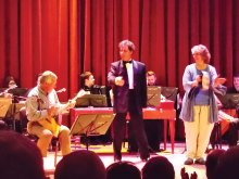 Savvy Travelers Nick Bog and Sara McFar performing in Russia
