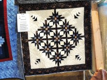 This small quilt made by Dianne Stoutenberg is from star quilter Kathie Neffenger's Mexican Star piecing workshop. Come join us in the fall.
