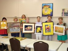"Club members with ""yellow"" paintings"