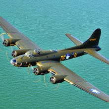 Col. Richard Bushong (ret.) will relate his experiences flying B-17 bombers like the one pictured during a presentation to the Sun Lakes Aero Club gathering November 16 at the Sun Lakes Country Club Mirror Room.