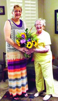 Judy Tolbert, AZ Federation of Garden Clubs and Elinor Egender.