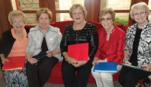 Pictured (left to right) Pattie Coleman, Jan Hood, Mary Wolf, Jude Mente and Carolyn Hawkins