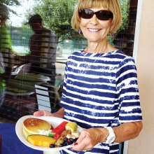 Pictured is Vicki Eslick from last year's pancake breakfast.