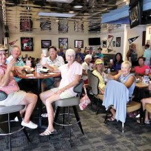 After a hot game the ladies are cooling down in Cottonwood Bar and Grill.