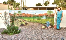 Painted by Marilyn Conner (to preserve the desert in in its spring glory).
