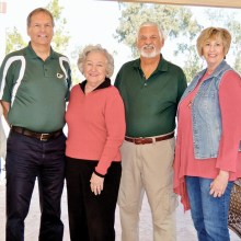 From left to right: Diana Nelinson, Jim Brown, Carole Hollar, Bob Rouleau, Roxanne Banta and Wes Davis