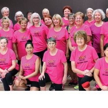 Zumba with Mary Pretty in Pink Crew!
