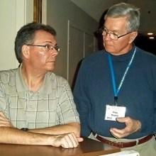 Guest speaker Keith Wheeler and club member Pete Boyko
