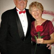 Jim and Gayle Alvar entering the Ballroom for last season's 2016 Valentine Ball