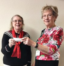 Sun Lakes Garden Club donating to Neighbors Who Care at December meeting