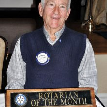 January Rotarian of the Month Dwight Snyder