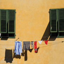 Laundry Day Shadows by John Thoma