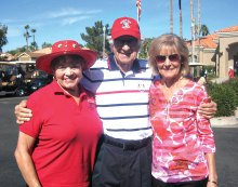 Pictured left to right are Lorene Roberts, Don Froom and Mary Swanson.