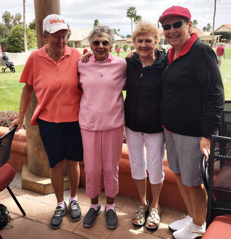 The winners of the 7th Annual Spring Fling Golf-o-Rama on March 5 were (left to right) Lynda Smith, Pearl Martin, Barb Hanson and Sarah Green. Congratulations, Ladies!