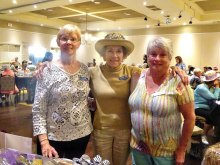 Vice President Pat Stead, President Margaret Johns and Sharon Gale