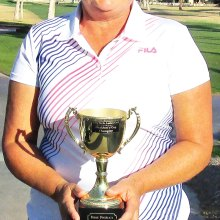 Mary Fitzke wins the President's Cup Tournament
