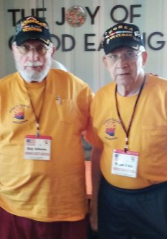 Two Sun Lakes resident veterans, Leon Johnson (left) and Wayne Krula, elected to attend the Honor Flight program held in Washington D.C. They visited all the war memorials. Both are members of the local veterans group, the Korean War Veterans Association which sponsors for WWII, Korean, Vietnam and Afghanistan wars.