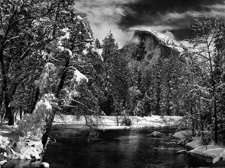 Merced River with Half Dome, by Lynn Thompson
