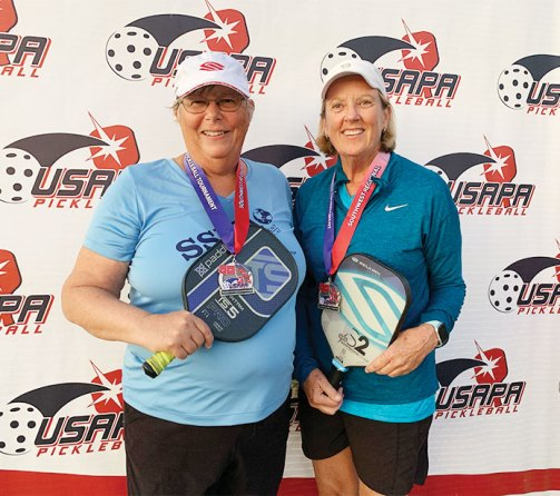Jamie Noblit, Sun Lakes, and Cheryl Stice won the Silver Medal in the Women's Doubles 4.0 65-69 at the Southwest Regionals.