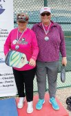 Janice Golden and Jamie Noblit, Sun Lakes, won the Silver Medal in Ladies Doubles at the Arizona Senior Olympics.