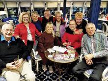 The Rajamakis, the Bogdanoffs, Terry Clark, Ted Korolak, Dorothy Clark, Heather and Cheryl from Australia - Christmas Cruise in Germany