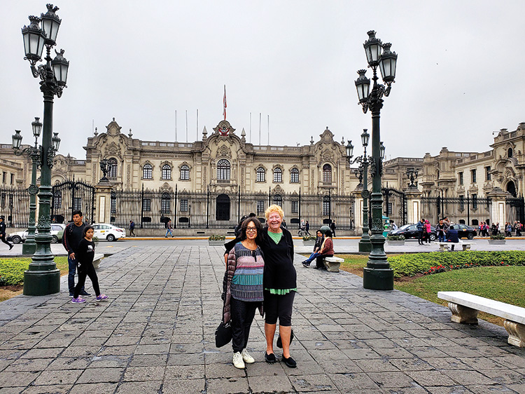 Gladys Crittendon and Terry Clark in Lima, Peru