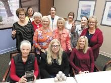 Pictured (left forward to right): Linda B.., Diana E., Pam C., Pat M., Debbie G., Julie A., Deena B., Sarah C., Helene H., Bernie H., Vicki M., Patti C.