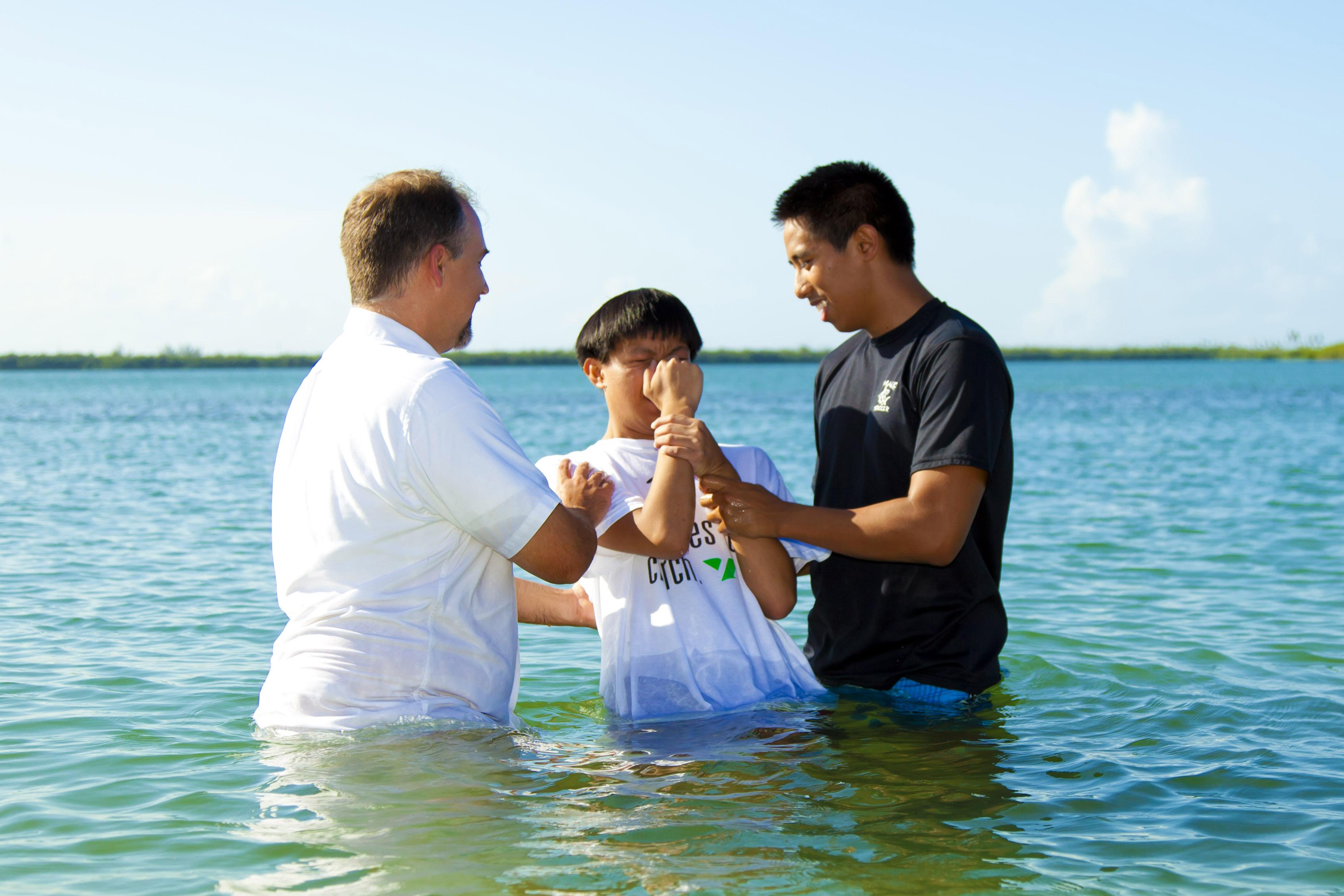 Beach Baptism Sunlight Kids