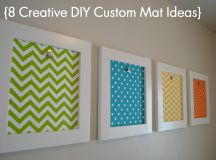 8 Creative DIY Custom Mat Ideas