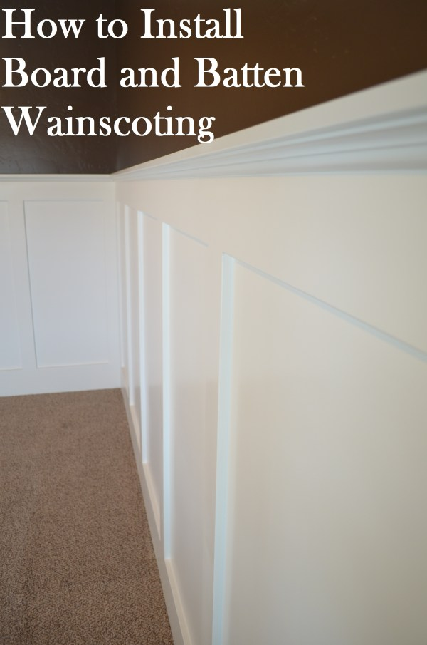 How to Install Board and Batten Wainscoting