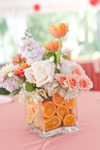 Fruit-wedding-centerpieces-citrus-lavender