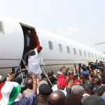 Atiku arrives in Asaba for campaign rally