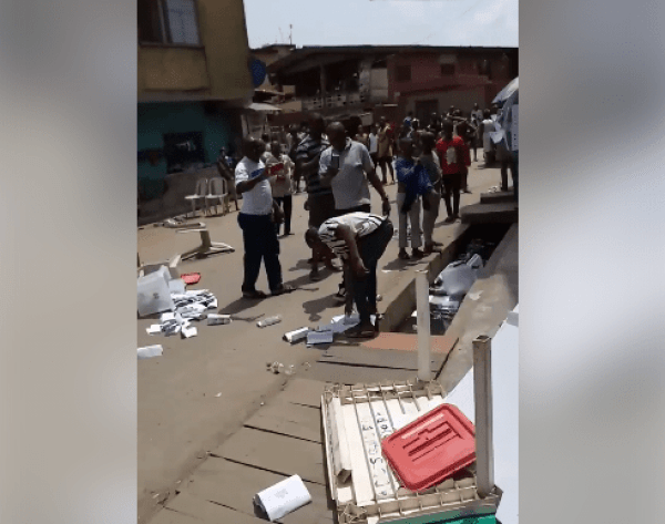 In Lagos, hoodlums cart away ballot boxes, voting materials