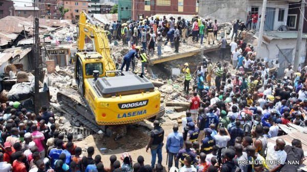 Many feared trapped as another building collapses in Lagos