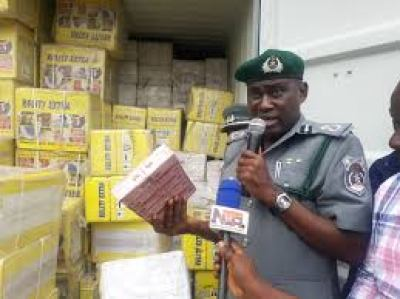 Customs intercepts ambulance loaded with stolen tramadol, arrests 2 suspects