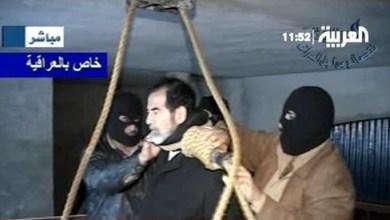 صورة إعدام الرئيس صدام