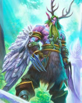 Malfurion with claw weapons