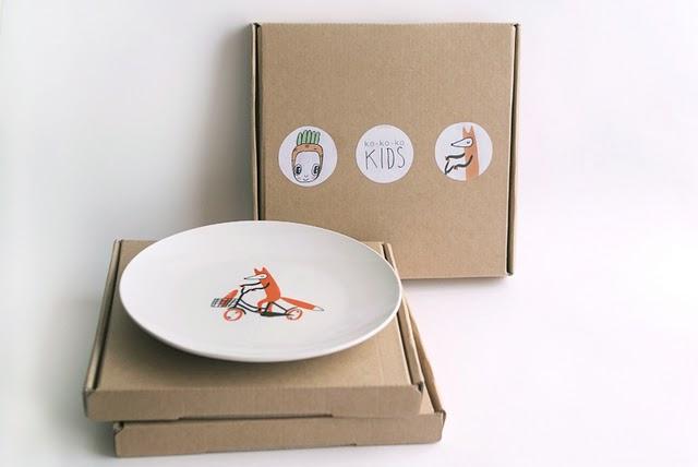 тарелки с дизайном от kokokokids
