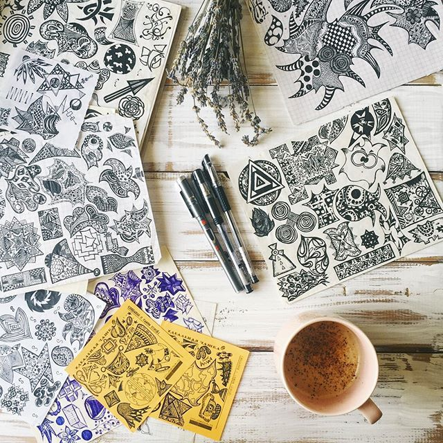 дудлинг doodling zenart
